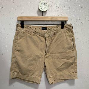 "JCrew Stanton Chino Tan 7"" inseam Shorts 30"